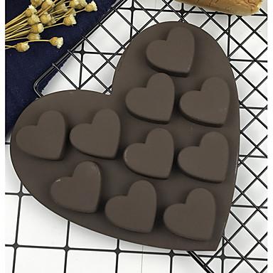 قوالب الكيك بدعة قلب لكعكة لأواني الطبخ الشوكولاتي جيل سيليكا اصنع بنفسك حداثة جودة عالية أداة الخبز