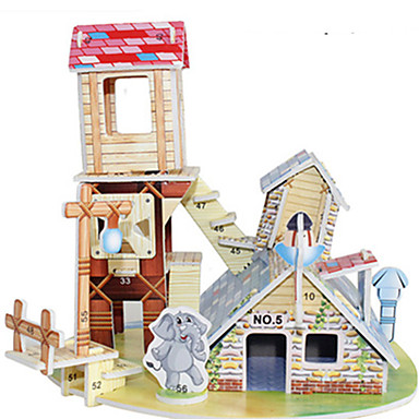 Puzzle 3D Puzzle Μοντέλα και κιτ δόμησης Jucarii Clădire celebru Casă Arhitectură 3D Reparații Hârtie Rigidă pentru Felicitări Ne
