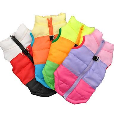 Kat Hond Jassen T-shirt Sweatshirt Gilet Hondenkleding Feest Casual/Dagelijks Houd Warm Sport Kleurenblok Zwart Fuchsia Groen Blauw