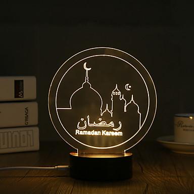 الصمام ليلة الخفيفة إضاءة الديكور-0.5W-USB ديكور - ديكور