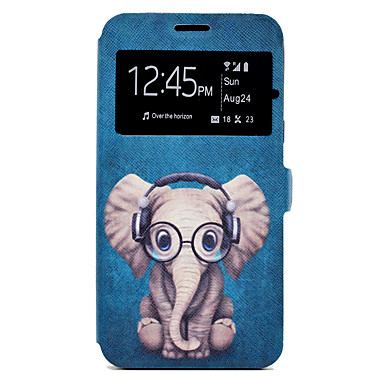 Hülle Für Samsung Galaxy J7 (2016) J5 (2016) Kreditkartenfächer mit Halterung Muster Ganzkörper-Gehäuse Cartoon Design Tier Hart PU-Leder