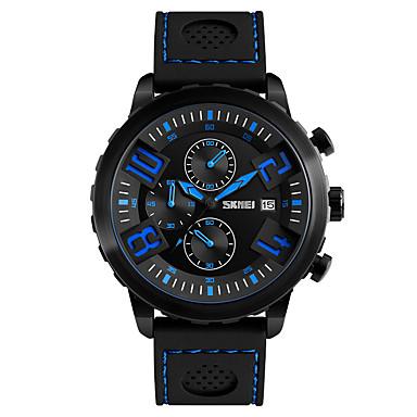 Heren Modieus horloge Polshorloge Kwarts Silicone Band Zwart