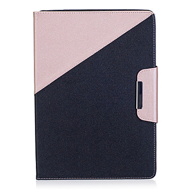 hoesje Voor Apple iPad Air 2 iPad Air Kaarthouder Portemonnee met standaard Flip Magnetisch Volledig hoesje Effen Kleur Hard PU-nahka voor