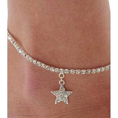 للمرأة مجوهرات الجسم Fotlenke سلسلة عتيقة سبيكة Star Shape مجوهرات من أجل فضفاض