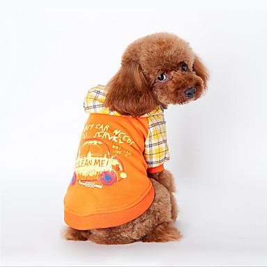 Câine Hanorca Îmbrăcăminte Câini Casul/Zilnic Literă & Număr Portocaliu Albastru Costume Pentru animale de companie