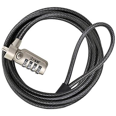 My-l701g koolstofstaal laptop slot 4 cijfer wachtwoord combinatie 1,8 m dikke stalen kabel beveiliging wachtwoord slot dail lock
