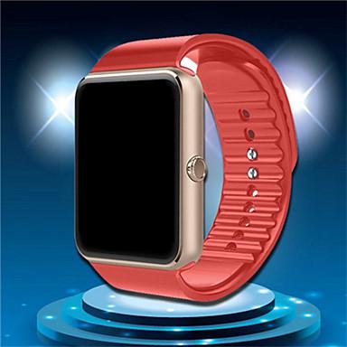 Herrn Smart Watch digital Caucho Band Schwarz Rot Gold