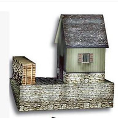 3D-puzzels Modelbouwsets Papierkunst Speeltjes Vierkant Beroemd gebouw Huis Architectuur 3D DHZ Hard Kaart Paper Unisex Stuks