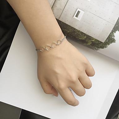 للمرأة أساور السلسلة والوصلة موضة سبيكة Heart Shape مجوهرات من أجل كاجوال/يومي