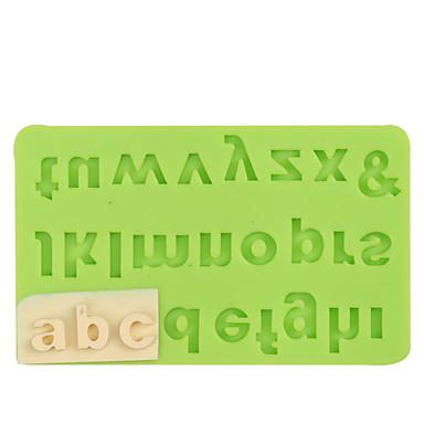 Kuchen Dekoration Werkzeuge Brief Silikonform Fondant Schimmel Schokolade Farbe zufällig