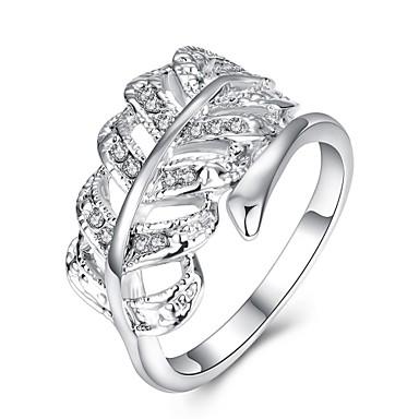 Dames Ring Zirkonia Gepersonaliseerde Luxe Meetkundig Uniek ontwerp Klassiek Vintage Tekojalokivi Bohémien Standaard Hart Cirkel