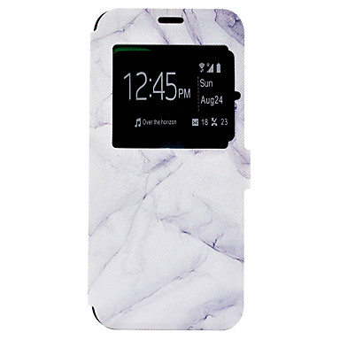 hoesje Voor Samsung Galaxy S8 Plus S8 Kaarthouder met standaard Patroon Volledige behuizing Marmer Hard PU-leer voor S8 S8 Plus S7 edge S7