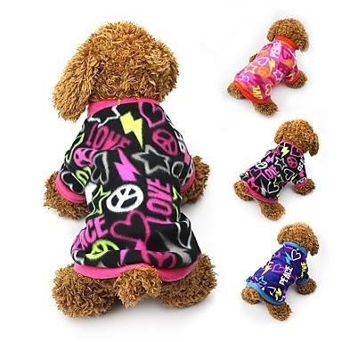 Kat Hond Jassen T-shirt Sweatshirt Hondenkleding Hart Zwart Fuchsia Blauw Fleece Kostuum Voor huisdieren Dames Feest Casual/Dagelijks