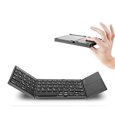 Tragbare zweimal faltende bluetooth Tastatur bt drahtloses faltbares Touchpad Tastatur für ios / android / windows Tablette