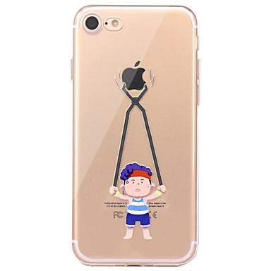 Hülle Für Apple iPhone 7 Plus iPhone 7 Transparent Muster Rückseite Spaß mit dem Apple Logo Weich TPU für iPhone 7 Plus iPhone 7 iPhone
