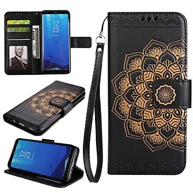 hoesje Voor Samsung Galaxy S8 Plus S8 Kaarthouder Portemonnee met standaard Flip Volledig hoesje Mandala Hard PU-nahka voor S8 Plus S8 S7