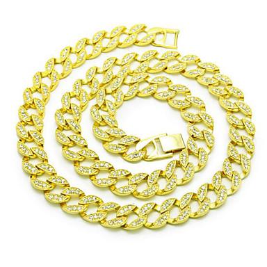 محظوظ دمية الرجال 15 ملليمتر سلسلة القلائد حجر الراين مطلية بالذهب سبيكة الأساسية التعميم فاسق المجوهرات ل هدية عيد مكتب اليومي&مهنة