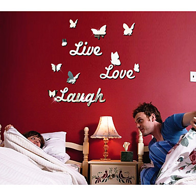 Romantiek Vrije tijd Muurstickers Spiegel muurstickers Decoratieve Muurstickers,Acryl Materiaal Huisdecoratie Muursticker