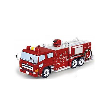 Speelgoedauto's 3D-puzzels Bouwplaat Trein Strijdwagen Brandweerwagens DHZ Klassiek Constructievoertuig Trein Brandweerwagen Kinderen