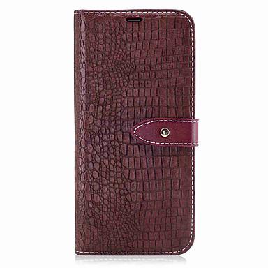 hoesje Voor Samsung Galaxy S8 Plus S8 Portemonnee Kaarthouder Flip Magnetisch Volledige behuizing Effen Kleur Hard PU-leer voor S8 S8