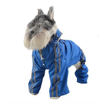 Hund Regenmantel Hundekleidung Lässig/Alltäglich Solide Gelb Rot Grün Blau