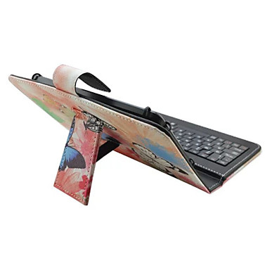 Für Hüllen Cover mit Halterung mit Tastatur Flipbare Hülle Muster Handyhülle für das ganze Handy Hülle Schmetterling Blume Hart