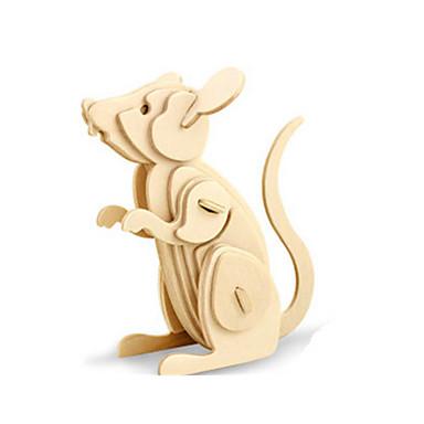3D - Puzzle Holzpuzzle Holzmodelle Dinosaurier Flugzeug Maus Tier 3D Heimwerken Hölzern Holz Klassisch Kinder Unisex Geschenk