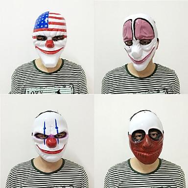 Neue Art und Weise 1pc pvc furchtsame Clownschablone Halloween-Schablone für Antifaz Partei Wimperntusche carnaval Kostüm Kostüm