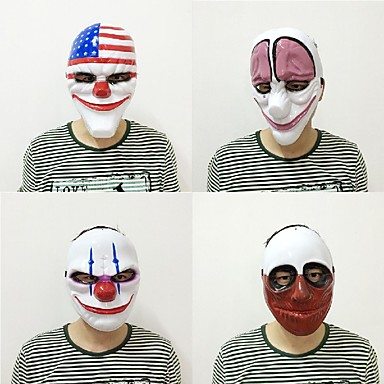 Nieuwe mode 1pc pvc scary clown masker halloween masker voor antifaz party mascara carnaval fancy dress kostuum