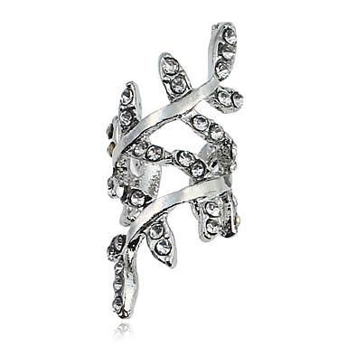 Damen Ohrstecker Klips Geometrisch Einzigartiges Design Multi-Wege Wear Simple Style Metalllegierung Strass Chrom Geometrische Form