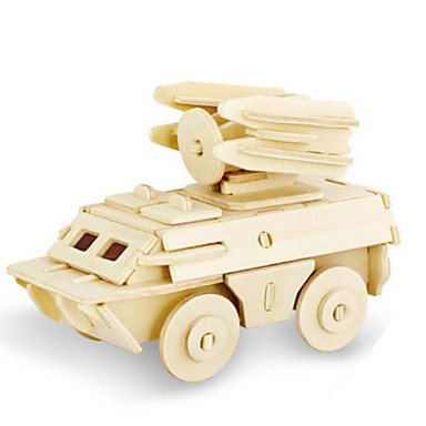Speelgoedauto's 3D-puzzels Legpuzzel Houten modellen Dinosaurus Tank Vliegtuig Vrachtwagen 3D Dieren DHZ Hout Klassiek Unisex Geschenk