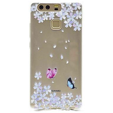 Für Hüllen Cover Muster Rückseitenabdeckung Hülle Schmetterling Blume Weich TPU für HuaweiHuawei P9 Huawei P9 Lite Huawei P8 Huawei P8