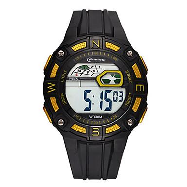 للرجال ساعة رياضية ساعة رقمية رقمي مقاوم للماء قضية مطاط فرقة أسود