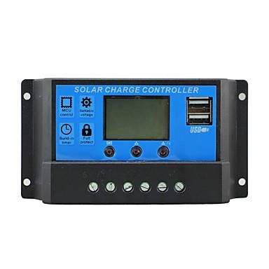 Încărcător solar de control 10a cu ieșire dublă USB 5v încărcător mobil 12 / 24v panou solar regulator de încărcare baterie 10 amperi