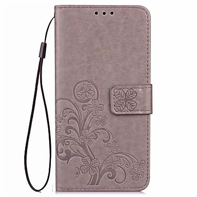 Maska Pentru Asus ZenFone Max ZC550KL Sony Titluar Card Portofel Cu Stand Întoarce Embosat Carcasă Telefon Culoare solidă Floare Greu PU