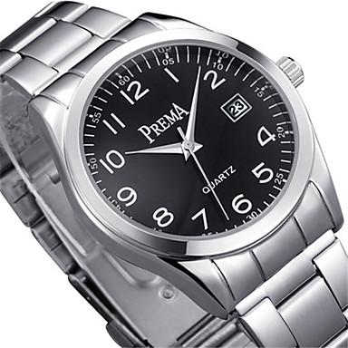 Heren Modieus horloge Kwarts Kalender Waterbestendig Legering Band Zilver