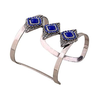 Dames Bangles Cuff armbanden ID-armband Vintage Bohémien Modieus Punk Hars Kunstdiamanten Geometrische vorm Sieraden Club