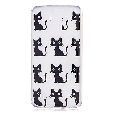 Fall für lg h502 x power Fallabdeckung Katze Muster gemalt hohe Durchdringung tpu Material imd Prozess weichen Fall Telefon Fall k8