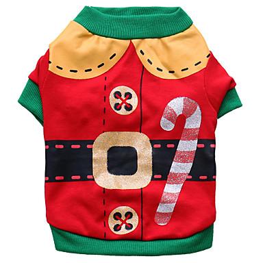 Câine Costume Îmbrăcăminte Câini Cosplay Crăciun Desene Animate Rosu Costume Pentru animale de companie