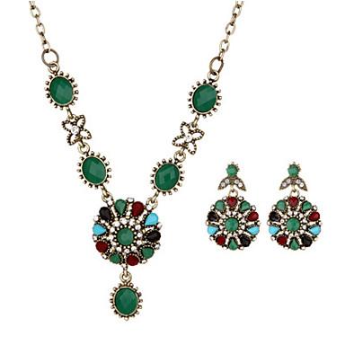 Damen Tropfen-Ohrringe Halskette Geometrisch Weihnachts Geschenke Bikini Harz Geometrische Form