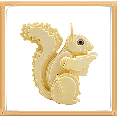 3D-puzzels Legpuzzel Houten modellen Modelbouwsets Eekhoorn 3D Dieren DHZ Puinen Hout Kinderen Geschenk