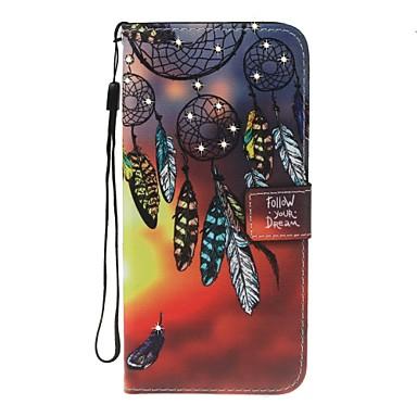 Fall für Apfel iphone 7 7 plus Abdeckung Kartenhalter Brieftasche Rhinestone mit Standflake Muster Ganzkörper Traum Fänger harte PU Leder