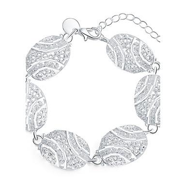للمرأة أساور ساحرة موضة تصفيح بطلاء الفضة دائري مجوهرات لباس يومي