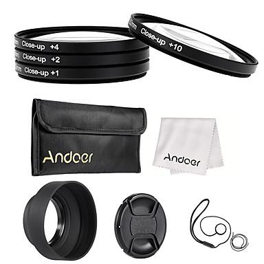 Andoer 52mm close-up Makro-Objektiv-Filter-Set (1 2 4 10) mit Objektiv Zubehör
