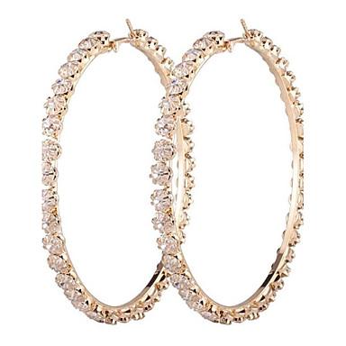 للمرأة أقراط قطرة الماس الاصطناعية موضة المتضخم سبيكة Circle Shape مجوهرات من أجل الغير هدية يوميا فضفاض رسمي الفالنتين