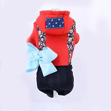 Hund Kapuzenshirts Hundekleidung Lässig/Alltäglich Blumen/Pflanzen Rot Blau Kostüm Für Haustiere