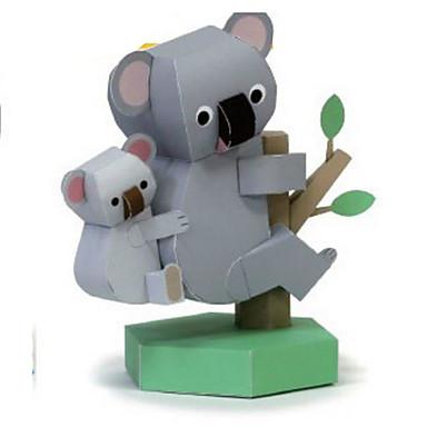 3D-puzzels Bouwplaat Modelbouwsets Papierkunst Speeltjes Vierkant Nieuwigheid Beer 3D DHZ Unisex Stuks