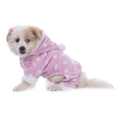 Hund Pyjamas Hundekleidung Lässig/Alltäglich Polka Dots Blau Rosa