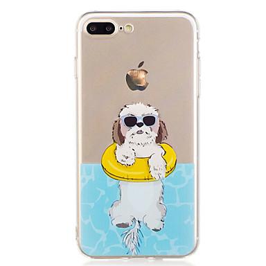Voor iPhone X iPhone 8 Hoesje cover Patroon Achterkantje hoesje Hond Cartoon Zacht TPU voor Apple iPhone X iPhone 7s Plus iPhone 8 iPhone