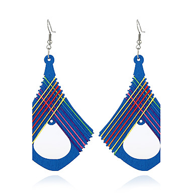 Dames Dangle Oorbellen Sieraden Gepersonaliseerde Bohémien Euramerican Hout Geometrische vorm Sieraden Voor Outdoorkleding